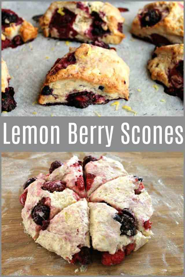Lemon Berry Scones - a quick and easy bake perfect for berry lovers #summerfruit #baking #bakingrecipe #scones #berryscones