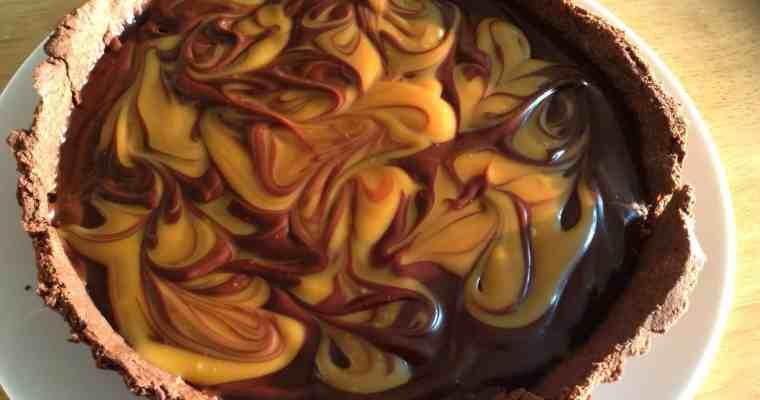 Chocolate and Salted Caramel Tart