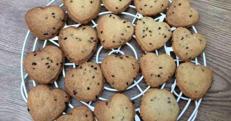 Raspberry Shortbread Hearts