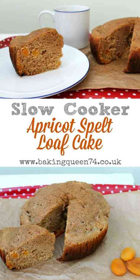 Slow cooker apricot spelt loaf cake - bake this delicious, healthier cake in your crockpot today