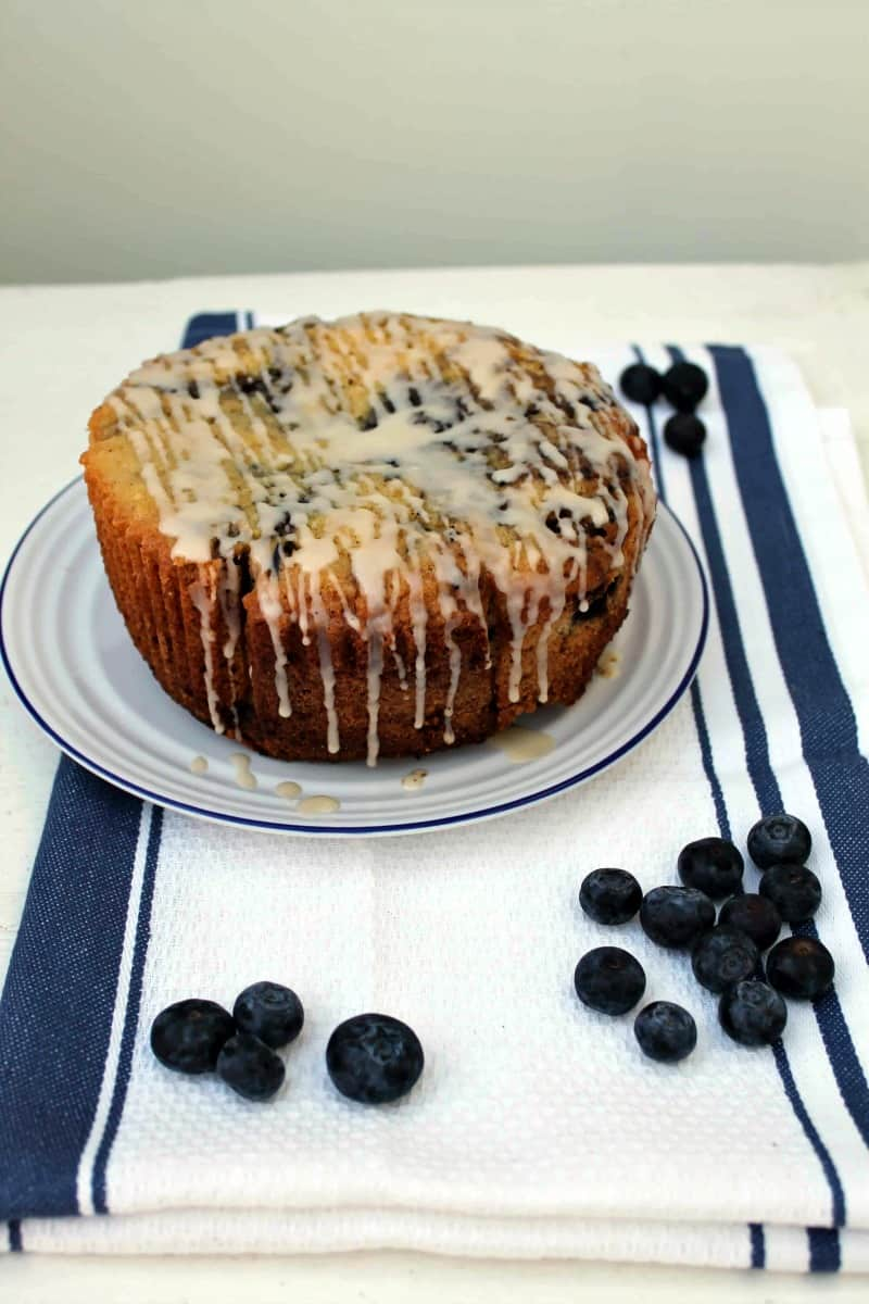 Slow Cooker Blueberry Madeira Cake