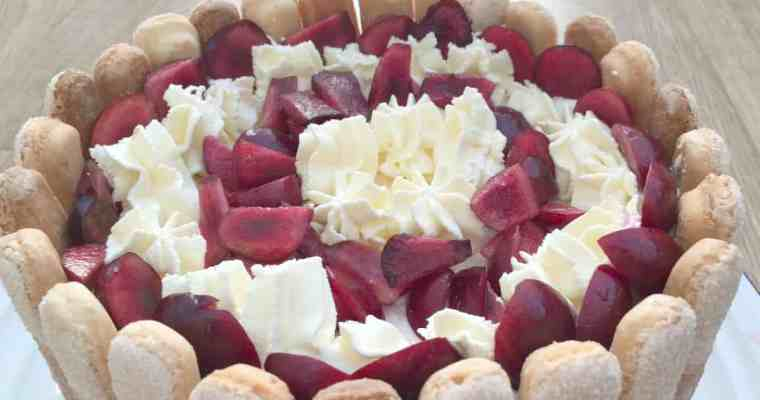 Cherry and Vanilla Charlotte Russe