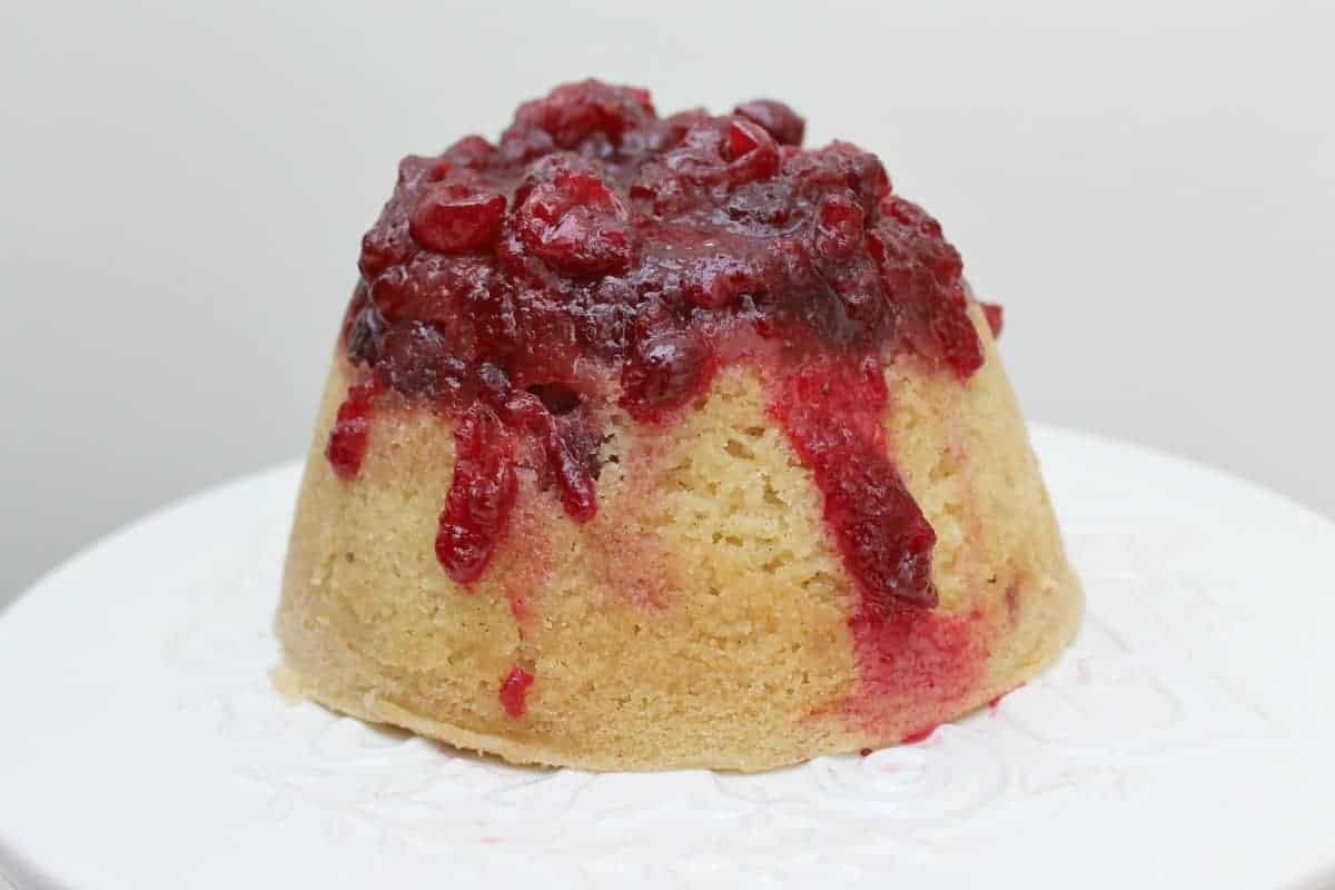 Slow Cooker Cranberry and Vanilla Steamed Pudding