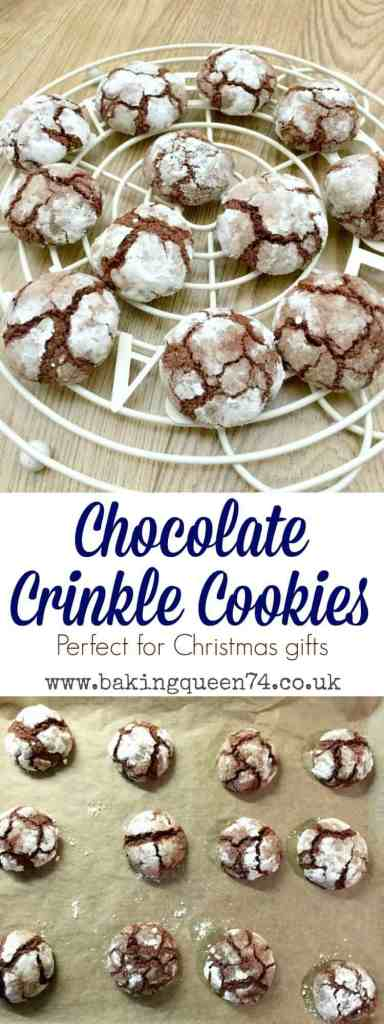 Chocolate crinkle cookies, perfect for gifting this festive season