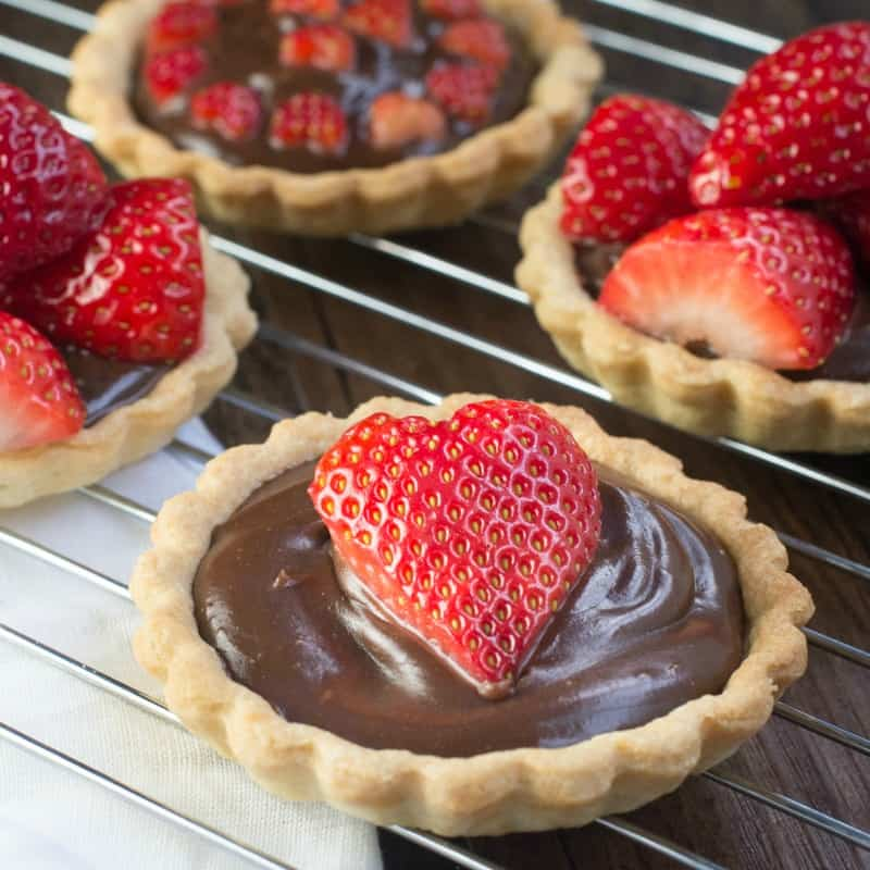 Charlotte's Lively Kitchen - strawberry and champagne truffle tarts