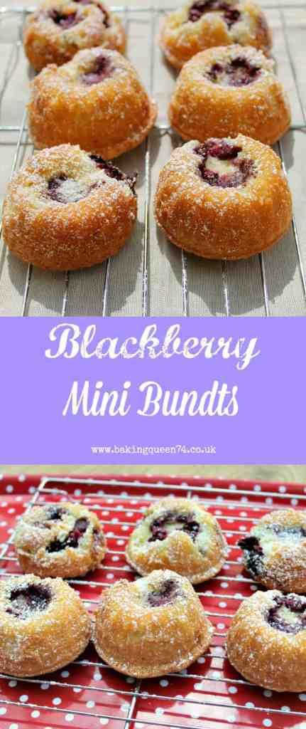 Blackberry Mini Bundts - an easy summery bake