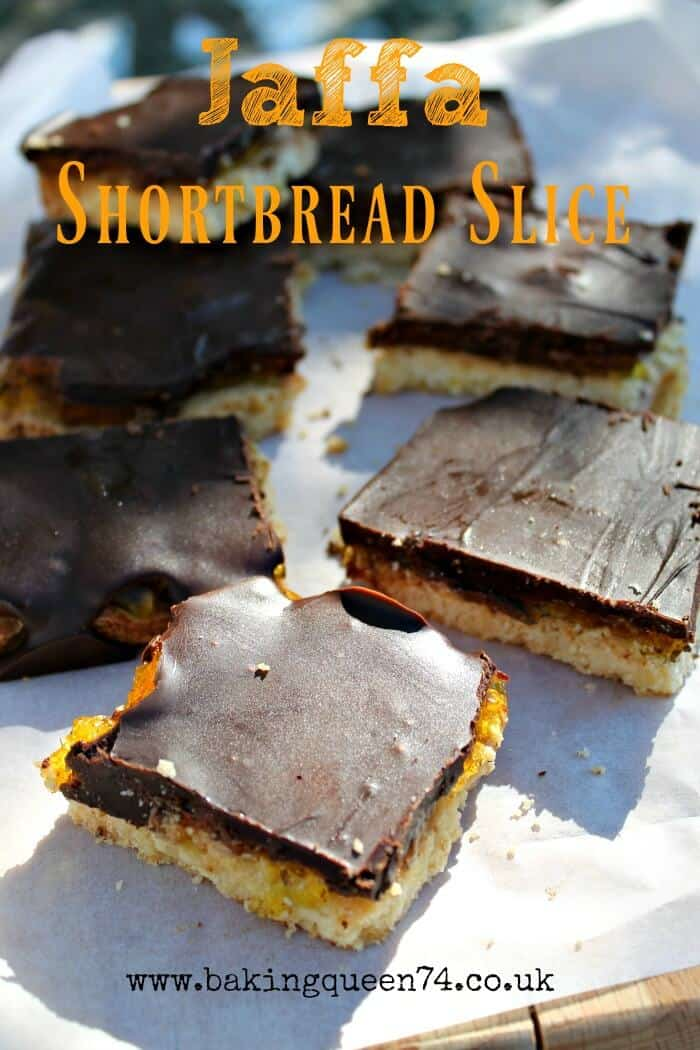 2016 GBBO bakes - Jaffa shortbread slice