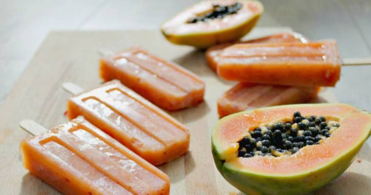 Papaya and Apple Ice Lollies