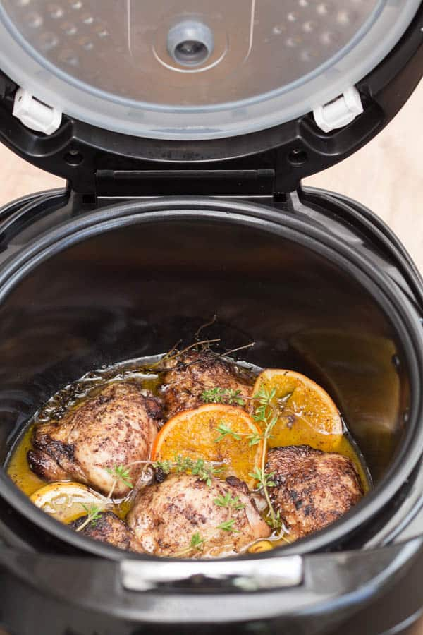 Slow cooker allspice, orange and lemon chicken - Recipes from a Pantry