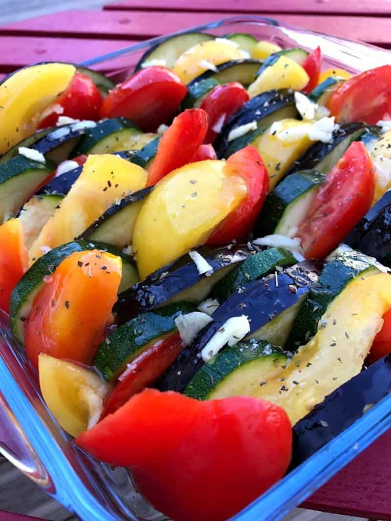Baked ratatouille - before cooking!