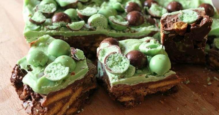 Mint Aero Chocolate Fridge Cake