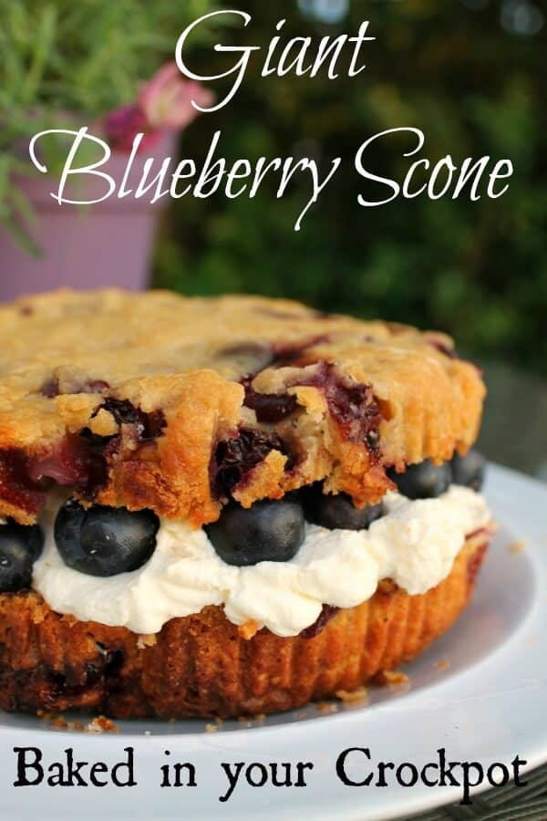 Giant Blueberry Cream Scone