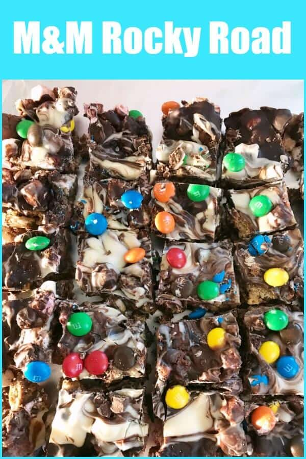 M&M rocky road - this chocolate no-bake recipe is ideal for bake sales and parties and is so easy to make