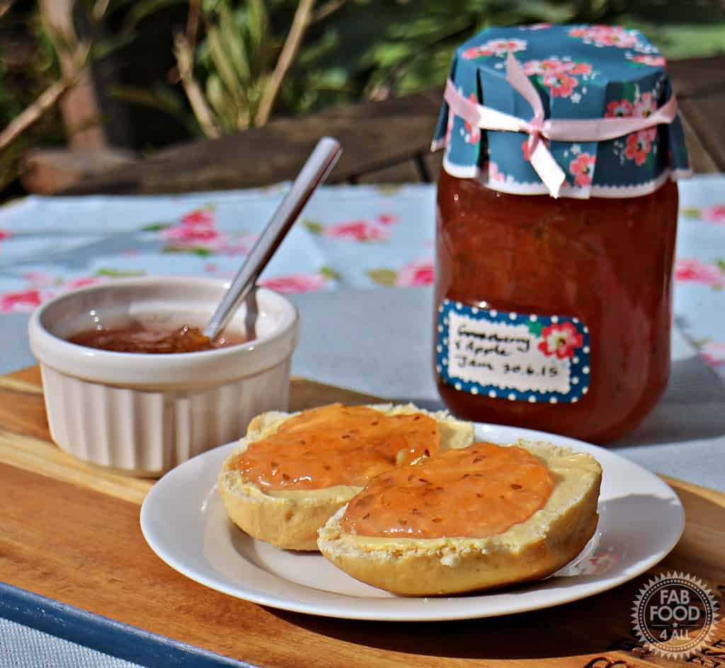 Gooseberry and Apple Jam from Fab Food 4 All