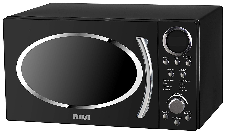 home black rca 1 1 cubic feet microwave
