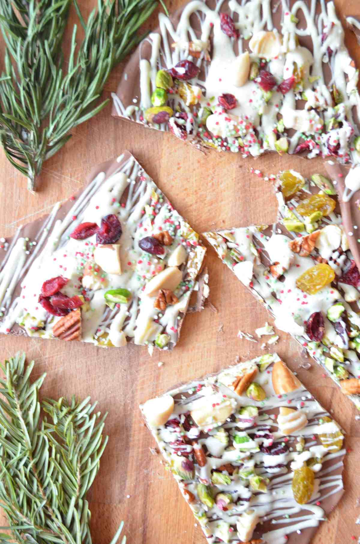chocolate christmas bark
