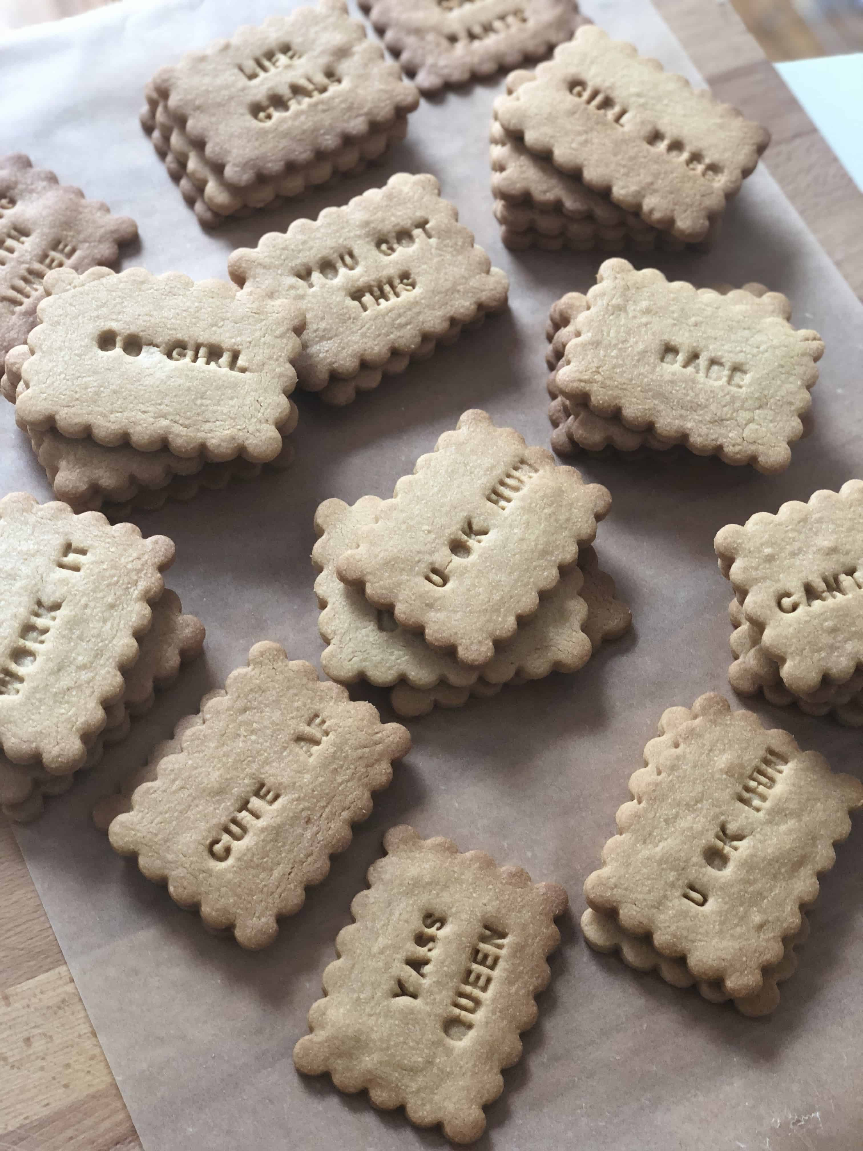 Sassy peanut butter biscuits baking with aimee i hope these sassy biscuits make you smile and youre inspired to create your own you can find the exact letterpress set i used here solutioingenieria Gallery
