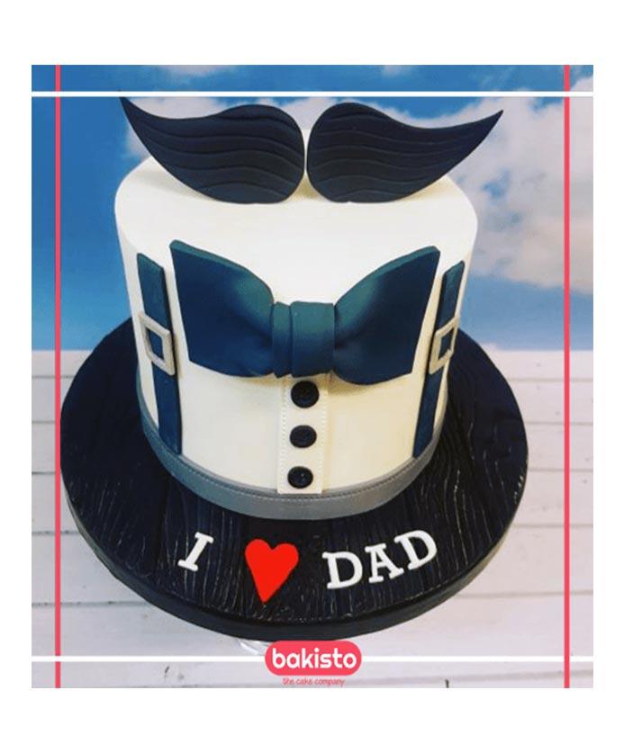 Groovy Blue Mustache Dad Birthday Cake Online Cake For Dad Birthday Funny Birthday Cards Online Bapapcheapnameinfo
