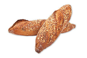 Aardappel stokbrood met zaden