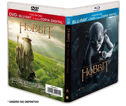 El Hobbit Un Viaje Inesperado (DVD + BD + Copia Digital) + Booklet [Blu-ray]