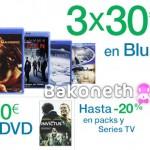 3×30€ en Blu-ray 6×30€ en DVD y 20% dto. en Packs y Series TV