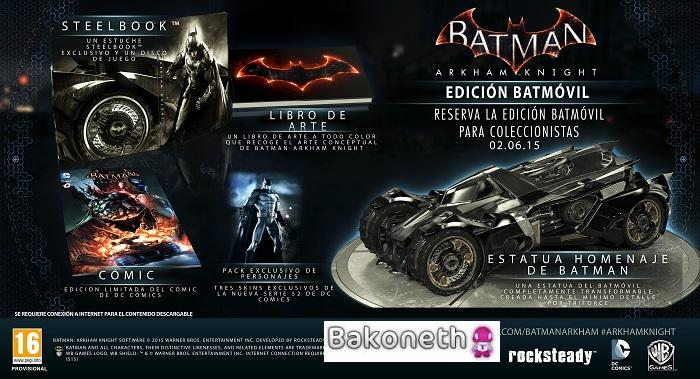 Batman  Arkham Knight Edición Batmóvil
