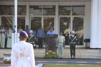 Pembacaan amanat upacara oleh Rektor UM, Prof. Rofi'uddin