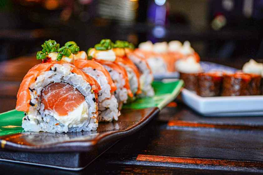 sushi on ceramic plate