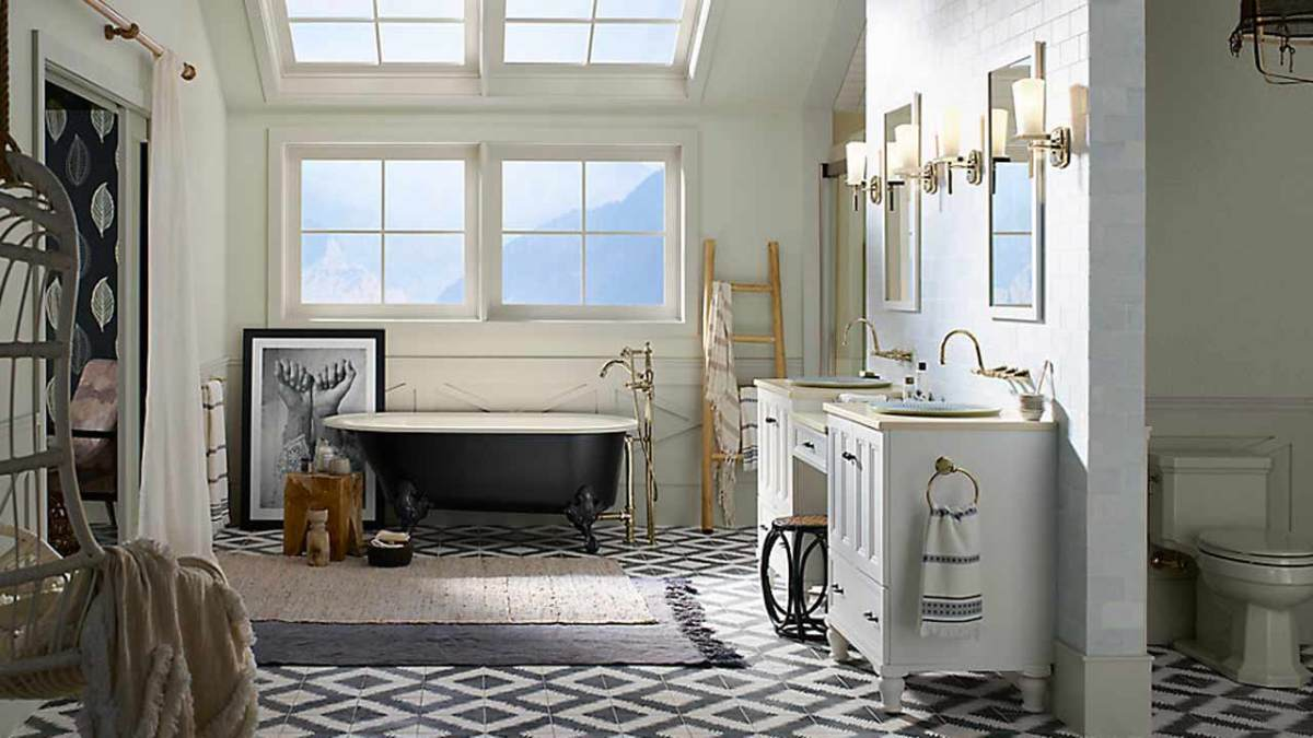 Inspirasi desain toilet by kohler