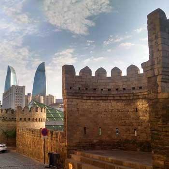 Baku Old City. Ichari Shahar. Walled City of Baku. Baku Inner City