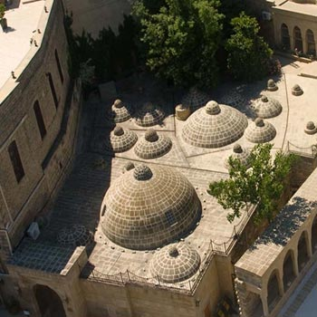 Shirvanshahs Palace Bath-house. Hamam in Baku, Azerbaijan