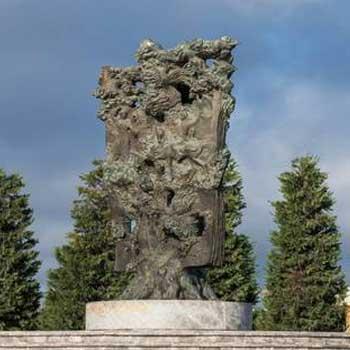 Kitabi Dede Gorgud monument. Monument to Kitabi Dada Gorgud epos