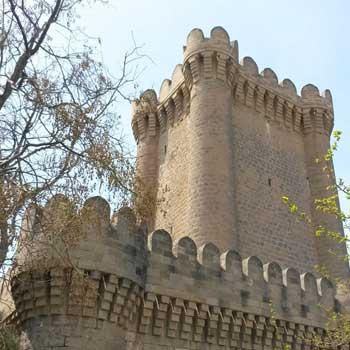 Quadrangular Mardakan fortress. Square Mardakan Castle in Baku, Azerbaijan
