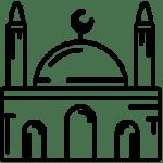 Religious sights in Baku. Mosques in Baku, Azerbaijan