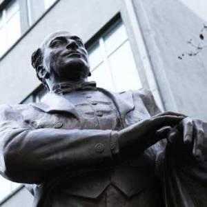 Monument To Bulbul. Bulbul Statue In Baku, Azerbaijan