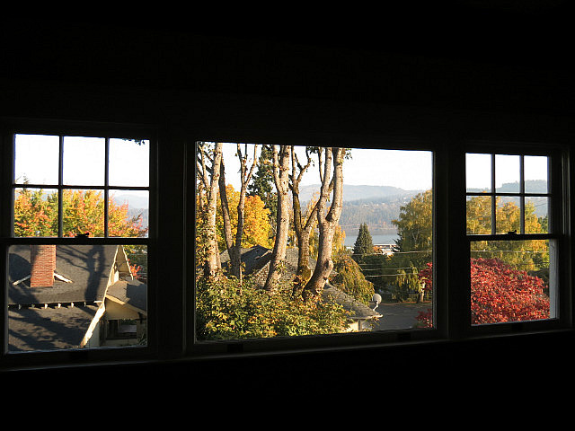 View from the dining room of our B&B