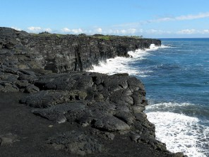 The coastline at the bottom of Chain of Craters Rd
