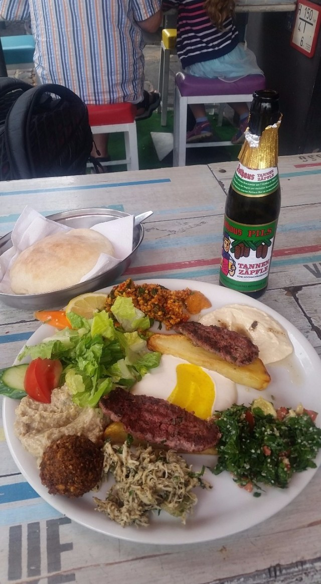 Dinner at the Syrian places next to my AirBnB
