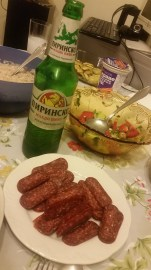 Lukanka and beer = happiness