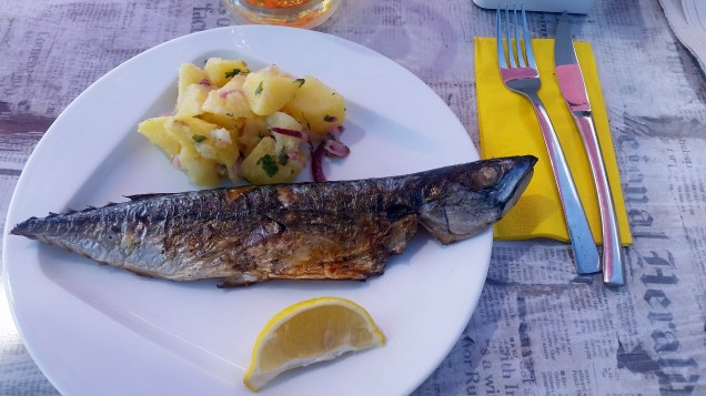 Grilled whole mackerel