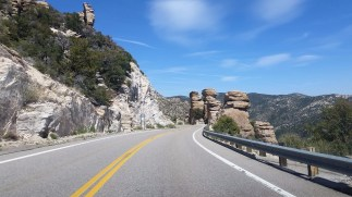 Driving back to Tucson from Mount Lemmon