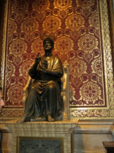 Bronze statue of St Peter