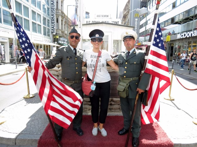 More posing at checkpoint Charlie