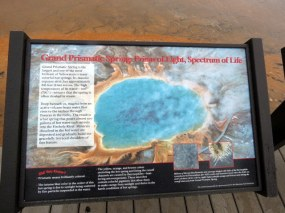 Grand Prismatic from above and without all the steam :)
