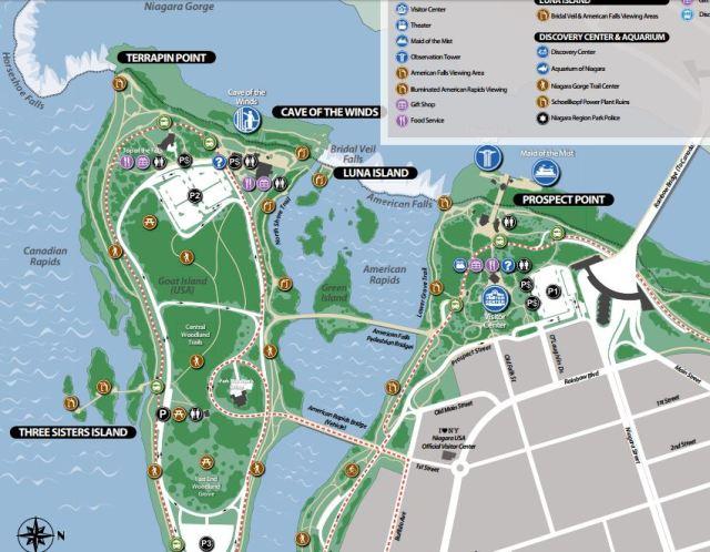 Niagara Falls State Park Map latest
