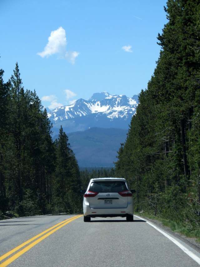 Mt Moran as seen from Hwy 89 going South from Yellowstone to Grand Teton