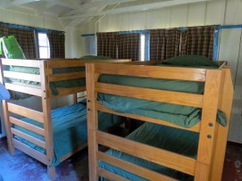 Bunk beds in cabin. The smallest cabin sleeps 4.