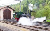Remplissage de la locomotive - Zürcher Museums-Bahn - Suisse