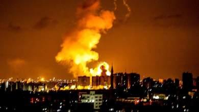 صورة سلسلة غارات إسرائيلية على أهداف مختلفة في قطاع غزة