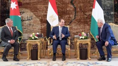 صورة بدء أعمال القمة الثلاثية بين الرئيس ونظيره المصري وملك الأردن